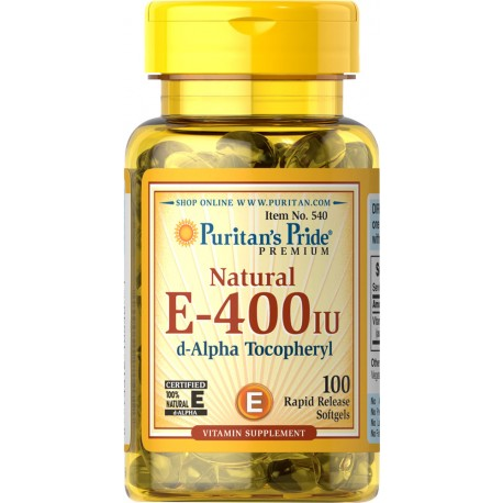 Witamina E-400 IU / 100 kaps (naturalna)