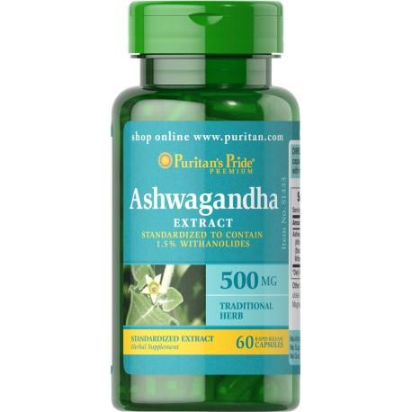 Ashwagandha Ekstrakt 500mg/60kaps